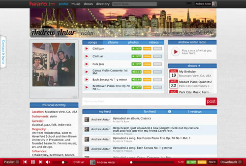 hearo.fm screenshot